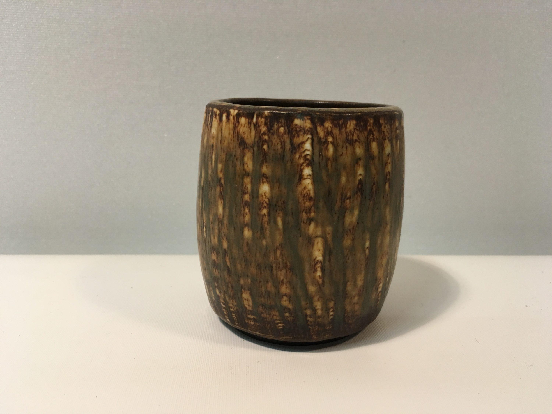 rørstrand keramik Fin Rørstrand vase i brunt keramik   AntikRetroDesign rørstrand keramik